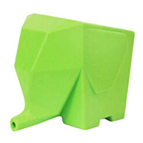SDGDFXCHN Besteck-Abtropfgestell mit Elefantenmotiv kreativer Zahnbürstenhalter multifunktionale Aufbewahrungsbox 14  9  115cm grün