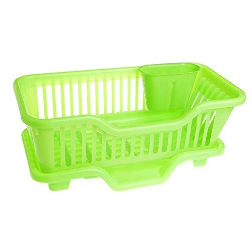 SimpleLife PP Küchenspüle Abtropfgestell Rack Waschen Halter Basket Organizer Tray Grün 445 × 23 × 18 cm  1752 × 906 × 709in
