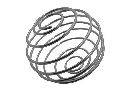 GymAdvisor MISCHER-KUGEL edelstahl MIXER schneebesen ersatz für eiweiss shaker - Silbern 1