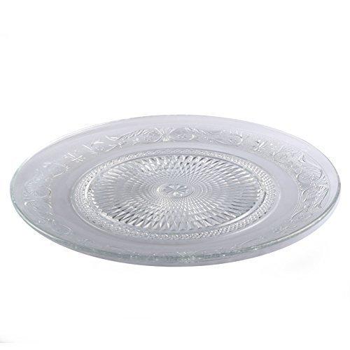 DRULINE Glasteller Teller Servierteller Kuchenteller Dessertteller Glas Platte 6er Sparset Mittel