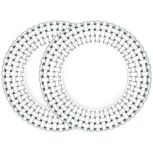 Spiegelau Nachtmann 2-er Set Teller gross Kristallglas Bossa Nova Größe 32 cm 0093511-0