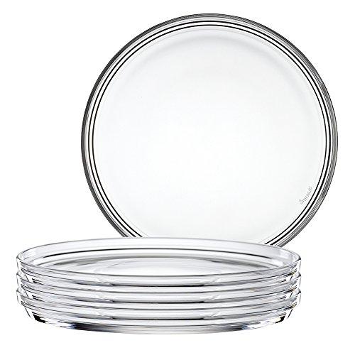 Spiegelau Nachtmann 2670142 4-er Set Teller gross Kristallglas Bistro Größe 22 cm 0093511-0
