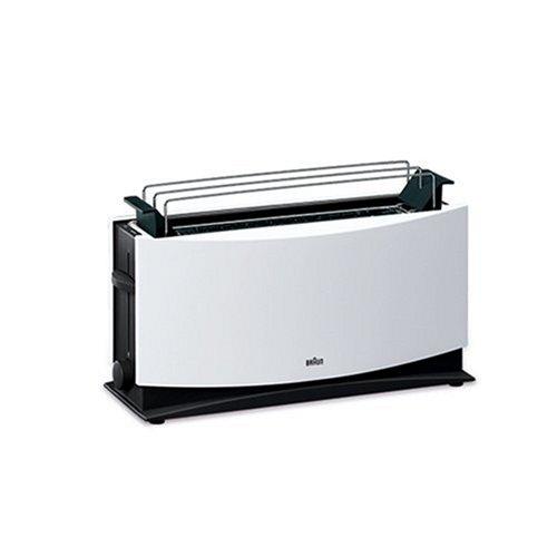 Braun Multiquick 5 HT 550 Langschlitztoaster 1000 Watt geeignet für 2 Toasts weiß