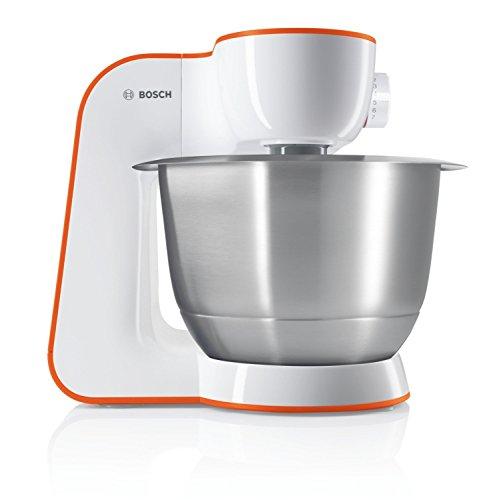 Bosch StartLine MUM54I00 Küchenmaschine 900 W 3 9 L edelstahl-Rührschüssel einfaches Handling Verstaulösung impulsive orangeweiß