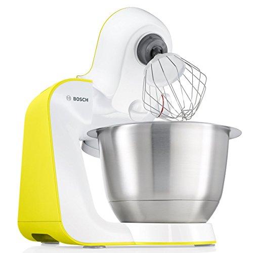 Bosch StartLine MUM54Y00 Küchenmaschine 900 W 39 L edelstahlrührschüssel Zubehörtasche weißintensive gelb