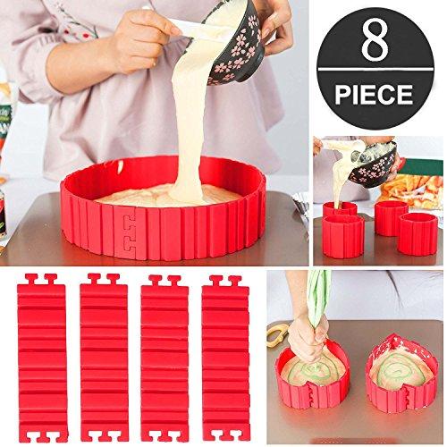 Tortenring Verstellbar Bake Snake kuchenform Silikon silikon form Backform Fondant Zubehör Cake Mould DIY eine Vielzahl von Formen