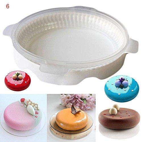 lzn 1x Kuchenform Backform Silikon Quadratische Runde Herzform 3D Kuchen Form Mousse Donut Backformen Maker Fach Küche Backenwerkzeuge