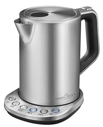 Profi Cook PC-WKS 1108 Edelstahl-Wasserkocher 15 L maximal 1850-2200 W Wasserstandsanzeige elektronische Temperatureinstellung Warmhaltefunktion inox