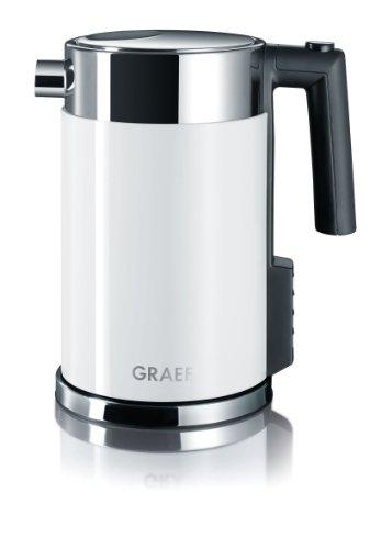 Gebr Graef WK701 Wasserkocher mit Temperatureinstellung  Edelstahl-Acryl weiß