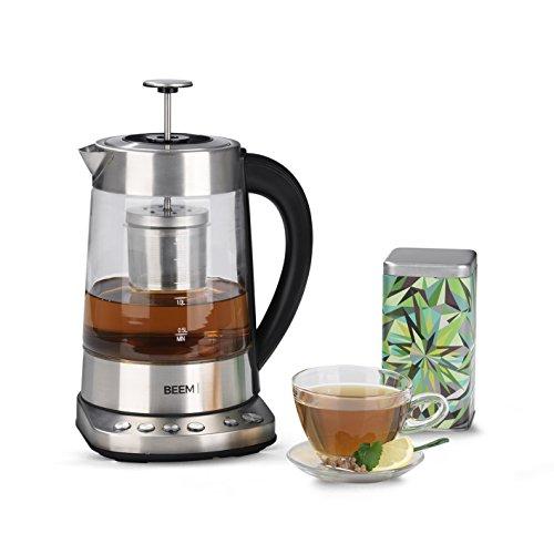 BEEM Tee und Wasserkocher 2000 W 17 l Wasserkocher mit Teesieb Individuelle Temperaturregelung Warmhaltefunktion Edelstahl BPA Frei Version 2018