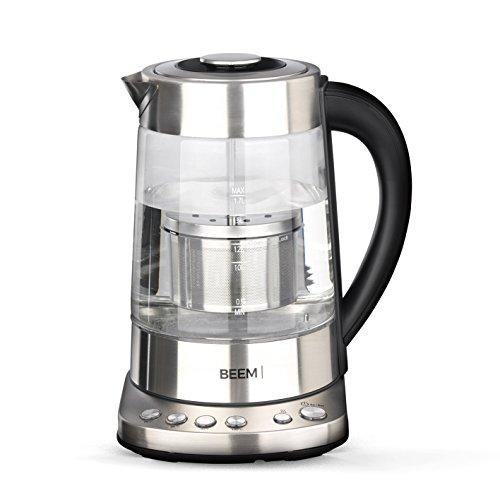 Beem Tee 1110SR-Elements of Coffee Tea 2000 W 17 l Wasserkocher mit Teesieb Individuelle Temperaturregelung Warmhaltefunktion Edelstahl BPA Frei