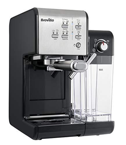 Breville PrimaLatte II Kaffee- und Espressomaschine VFC108X-01 19 bar für Kaffeepulver oder Pads geeignet Integrierter automatischer Milchschäumer schwarzsilber