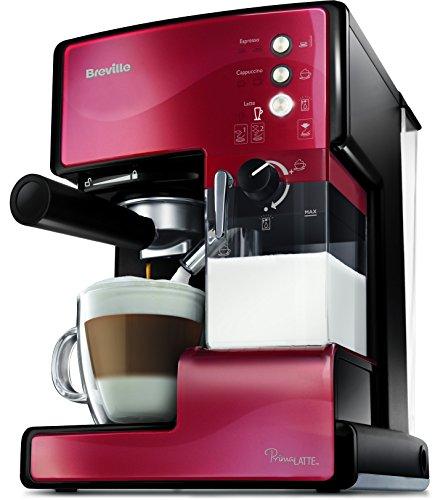 Breville VCF046X PrimaLatte 3 in 1 Kaffeemaschine  Espressomaschine  Kaffeepadmaschine  15 Bar  für verschiedene Milchtypen geeignet