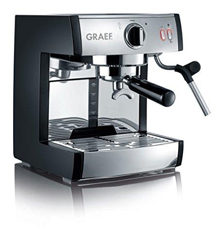 Graef ES702EU Siebträger-Espressomaschine pivalla 1410 W 16 Bar schwarz-mattedelstahl