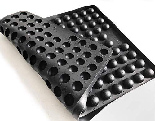Collory Silikon Backmatte  2cm Halbkugel Backform für Hundekekse Hundeleckerlies  Hitzebeständig 240°C  40x285x15cm  Lebensmittelecht BPA-frei  Antihaftbeschichtet Schwarz