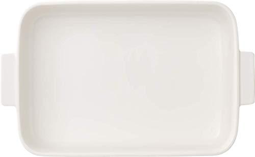 Villeroy Boch Clever Cooking Rechteckige Backform mit Deckel 2-teilig 34 x 24 cm Premium Porzellan Weiß