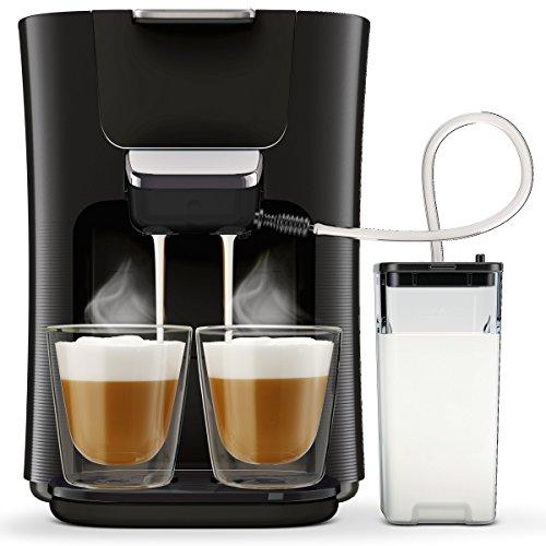 Philips Senseo HD657060 Latte Duo Kaffeepadmaschine 2 Kaffee frische Milch schwarz