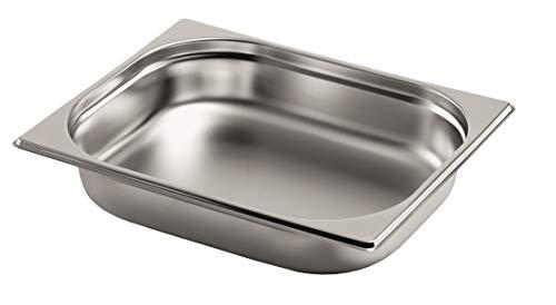 Gastro-Bedarf-Gutheil Gastronormbehälter GN Behälter 12 65 mm Tief stapelbar Edelstahl Geeignet für Chafing Dish Bain Marie Saladette