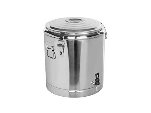 Profi Gastro Edelstahl Thermotransportbehälter mit Ablaufhahn Druckausgleichsventil von 10-50 Liter auswählbar 36x46 cm 23 Liter