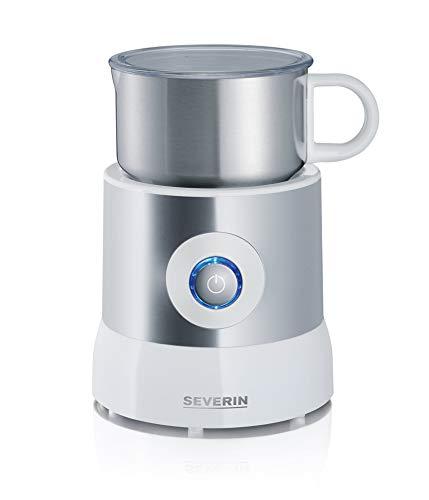 Severin SM 9684 Milchaufschäumer 500 Watt Induktion 500 ml kaltes und warmes Aufschäumen edelstahlweiß