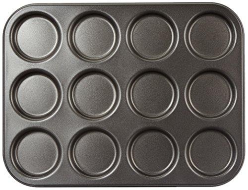 KitchenCraft KCMCHB80 Antihaft-MacaronWhoopie-Pie-Backblech mit Mulden Stahl grau 35 x 27 x 1 cm