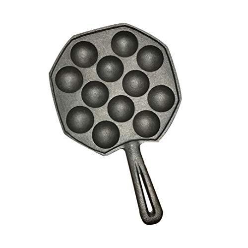 12 Löcher einfaches DIY Takoyaki Pan Octopus Balls Backen Maker Grill Mold Brennen Platte Küche die Werkzeug schwarz zu reinigen