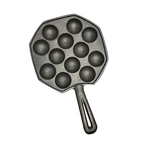 Cloverclover 12 Löcher einfache DIY Takoyaki Pan Octopus Ball Backen Maker Grill Form zu reinigen