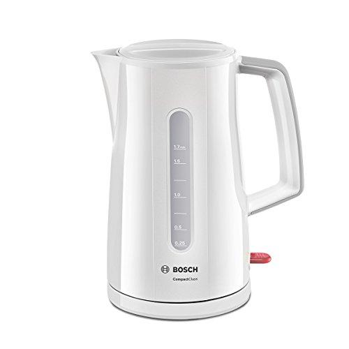 Bosch TWK3A011 Wasserkocher Compact Class Frühstücksset 2400 Watt weiss