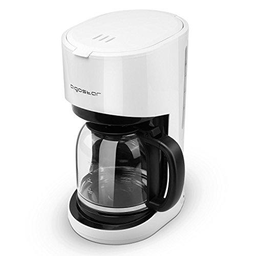 Aigostar Milk 30HMB - Amerikanische Kaffeemaschine 900 Watt Wiederverwendbarer Filter Warmhalteplatte 15L Kapazität FBA Frei WeißEINWEGVERPACKUNG