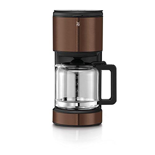 WMF Terra Aroma Kaffeemaschine mit Glaskanne Filterkaffee 10 Tassen Tropfstopp Warmhalteplatte Abschaltautomatik Braun 1000 W