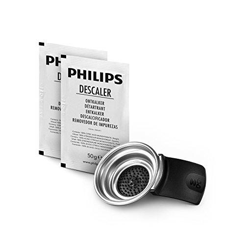 Philips Senseo CA651402 Pflegeset Entkalker und Kaffeepadhalter für Senseo Original Maschinen 2 Tassen