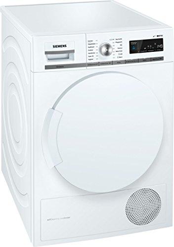 Siemens iQ700 WT44W5W0 iSensoric Premium Wärmepumpentrockner  A  8 kg  Großes Display mit Endezeitvorwahl  Selbstreinigungs-Automatik  weiß