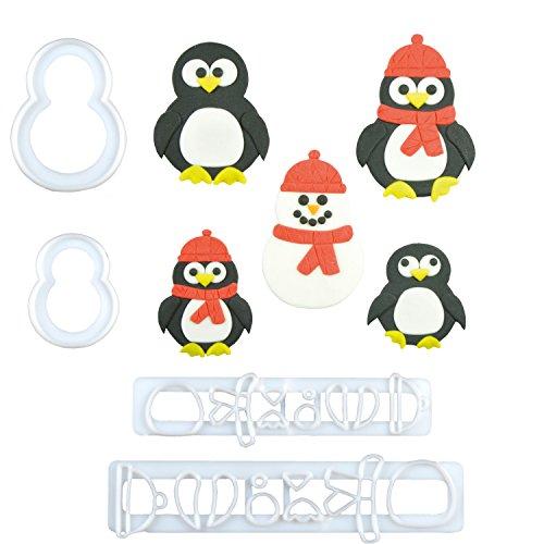 1 FMM Pinguin Ausstecher  Penguin  Kaiserpinguin  Antarktis  Vogel  Eis  Tortendeko  für Fondant und Blütenpaste