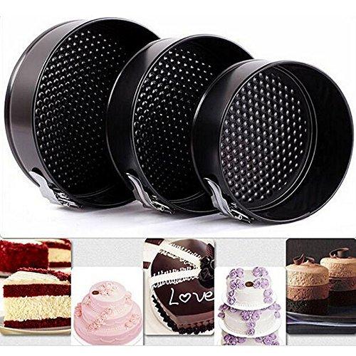 Gabkey Backformen Set 3-tlg - Springform - 182024 cm Ø - Kuchen Backform - Antihaftbeschichtung - Kuchenform