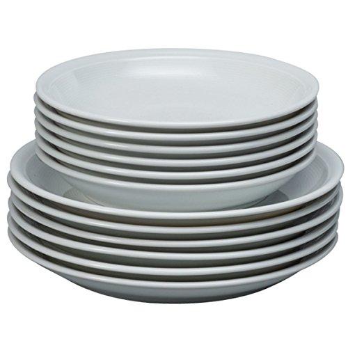 Thomas Trend Weiß Tafel Set 12-teilig Speise Service Essgeschirr 12-teilig Bestehend aus 6 Suppenteller und 6 Speiseteller