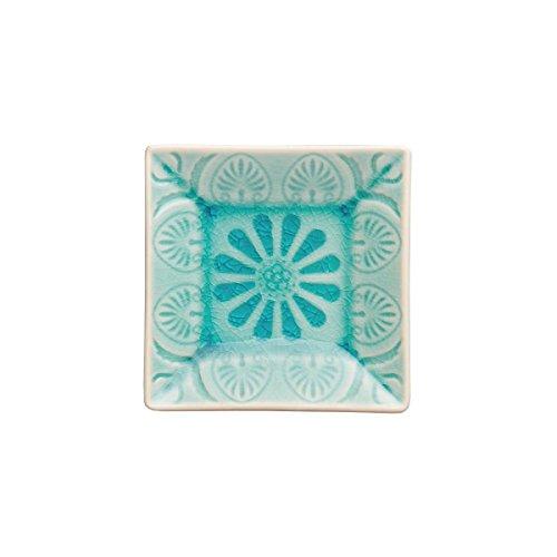BUTLERS SUMATRA Schälchen quadratisch - Keramik- Schale quadratisch mit Muster  Sumatra Schale in vier Farben  Breite 9 x Tiefe 9 x Höhe 18 cm