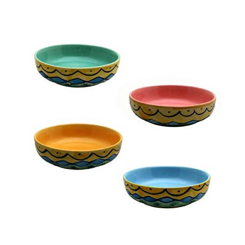 Gall&Zick Dipschale Set4 Dessertschale Snackschale Schälchen Schale Schüssel Geschirr Keramik farbig bunt Dekoration
