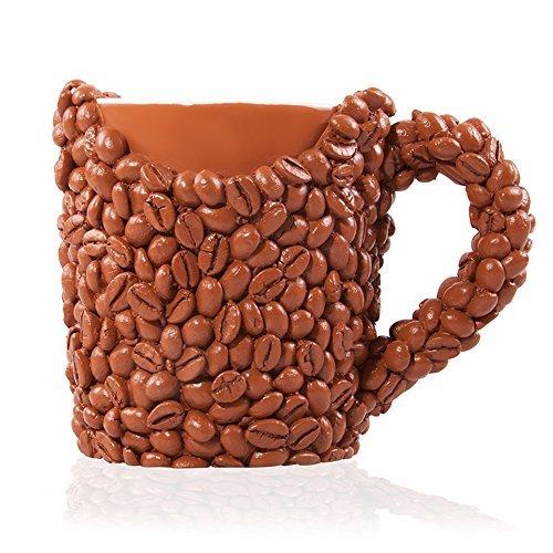 DER Kaffeebohnen Kaffeetasse Lustige Weihnachtsgeschenke oder Geburtstagsgeschenk für Ehemann Papa Mama Bruder Schwester oder Freund  Witzige Kaffeeliebhaber Tasse für Männer und Frauen
