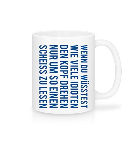 Lustige Kaffee-Tasse mit Spruch  Kopf drehen  Tolle Geschenkidee Tasse mit Spruch Geburtstag Weihnachten  Schöne Kaffee-Tasse von Shirtinator
