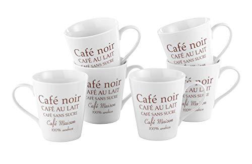 Esmeyer Kaffeebecher Set Fakt 6-teilig Porzellan Weiß 24 x 17 x 11 cm