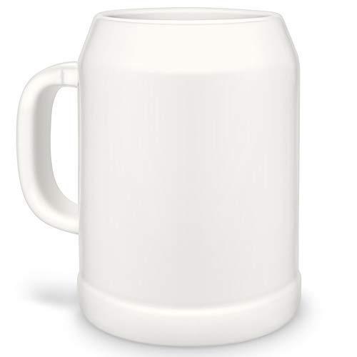 Bastel-Krüge ohne Druck zum Bemalen aus Hochwertiger Keramik Einzeln oder im SetBierbembel  BierbemberSeidel  Maß-KrugHumpen  Steinkrug Bierkrug 2er Set