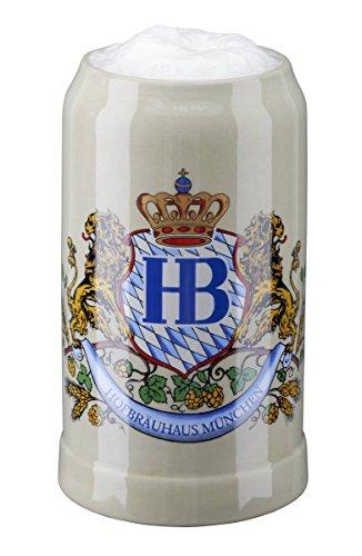 Original Bierkrug  Steinkrug HOFBRÄUHAUS MÜNCHEN mit Motiv 1 Liter SAMMLERKRUG