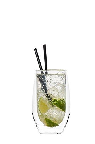 YEM 6 x 320ml doppelwandige Thermo-Gläser für Latte Macchiato Cocktails Desserts Tee Glas-Set Doppelwandgläser Paddy