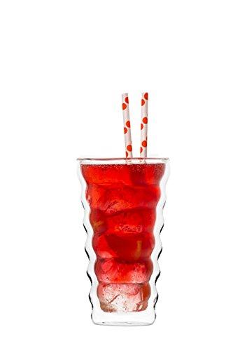 YEM 6 x 350ml doppelwandige Thermo-Gläser für Latte Macchiato Cocktails Desserts Tee Glas-Set Doppelwandgläser Honey