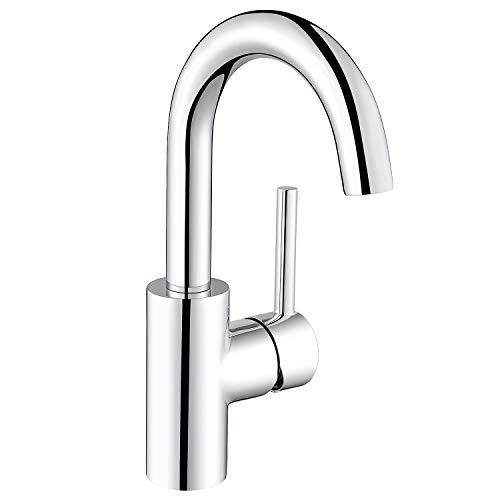 Amzdeal Waschtischarmatur hoher Auslauf 360 ° drehbare Waschbecken Armatur Waschtisch Mischbatterie Bad Badezimmer Wasserhahn aus 59 Messing  AZ005B