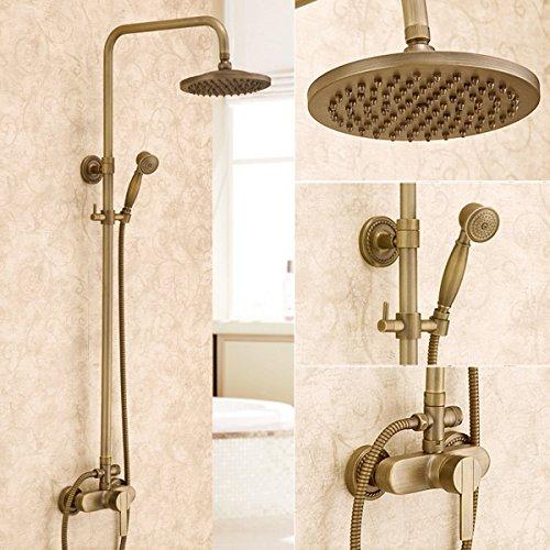ETERNAL QUALITY Badezimmer Waschbecken Wasserhahn Messing Hahn Waschraum Mischer Mischbatterie Tippen Sie auf Armaturen Kupfer antike Badezimmer Armaturen Set antiken Wan