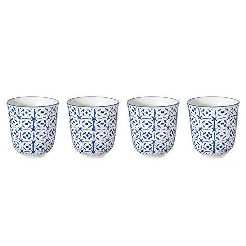 ASA Selection - Indigo - Becher Indigo I - Porzellan - blauWeiss - Ø 75 cm h82 cm 015l - 4er - Set