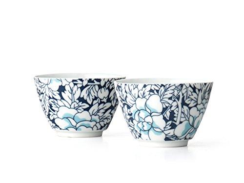 Bredemeijer Teebecher Yantai dunkelblau Porzellan Blau 74 x 74 x 5 cm