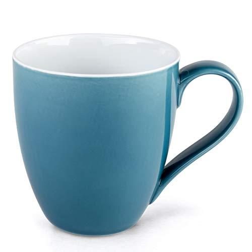 Hausmann Söhne XXL Tasse blau groß aus Porzellan  Jumbotasse 500 ml 550 ml randvoll im 4er Set  KaffeetasseTeetasse groß  Kaffeebecher  Blaue Tasse 500 ml  Geschenkidee