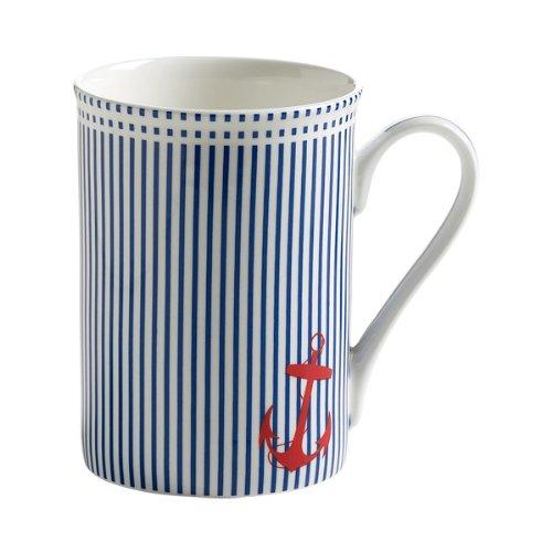 Maxwell Williams S88002 Nautical Becher Kaffeebecher Tasse blau gestreift in Geschenkbox Porzellan